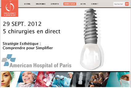chirurgie en direct, American Hospital of Paris